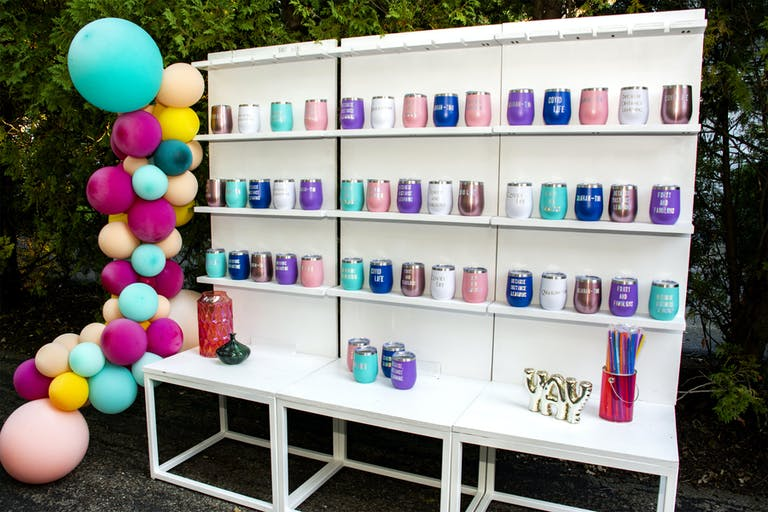 Colorful Social Distanced Backyard 40th Birthday Party