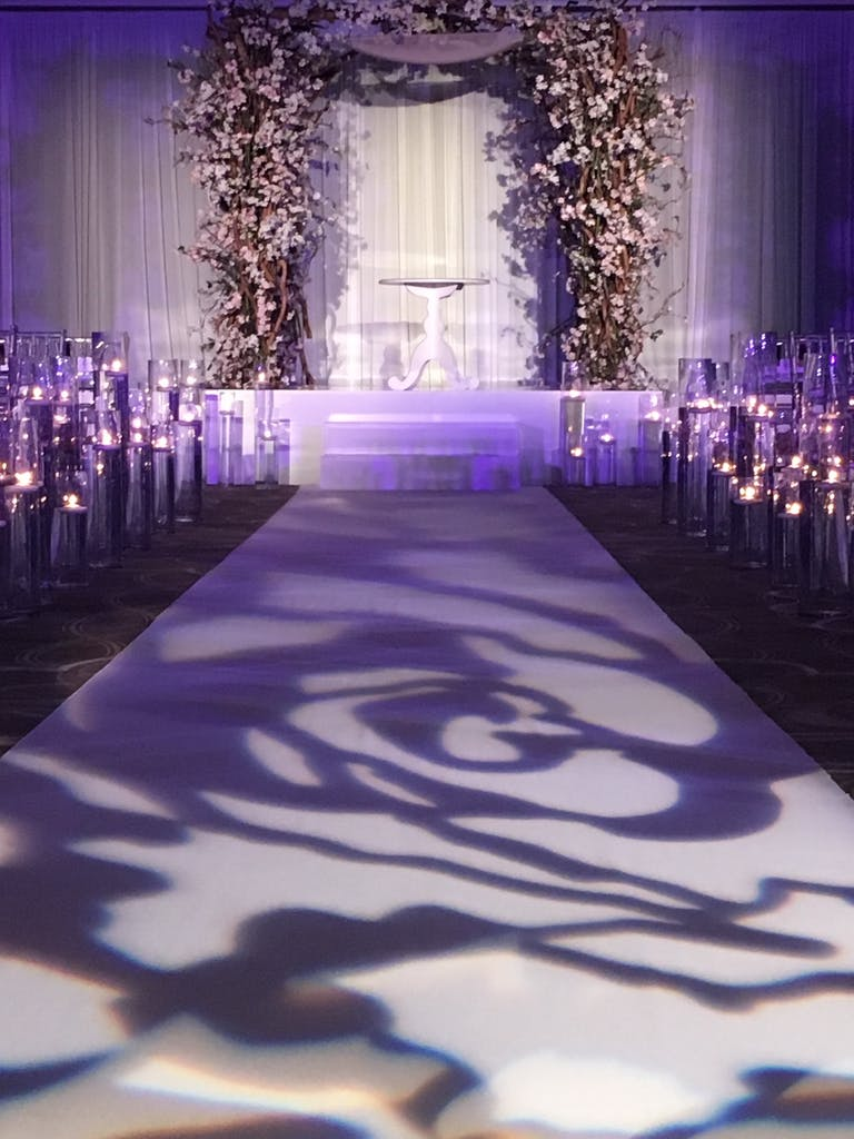 Glamorous & Stylish Wedding Turnberry Isle in Miami, FL With Creative Lighting Wedding Aisle Décor