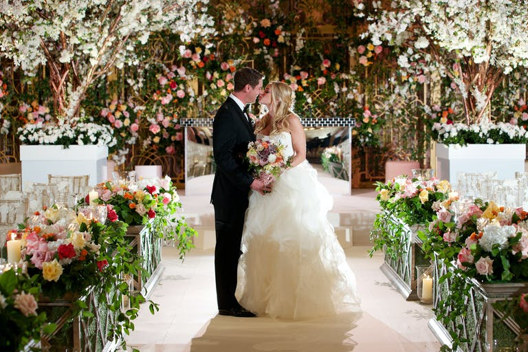 Luxurious Garden Wedding at The Ritz-Carlton in Chicago, IL With Creative Wedding Aisle Decorations