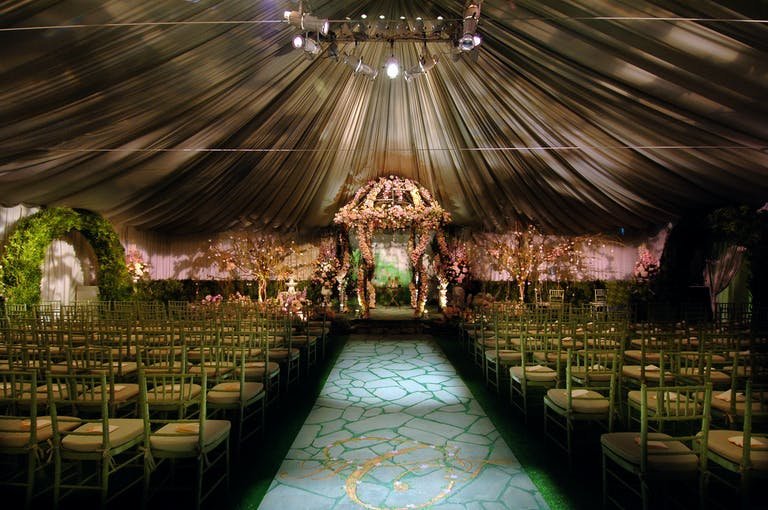 Luxurious Tented Wedding at a Private Residence in Mendham, NJ With Creative Wedding Aisle Décor