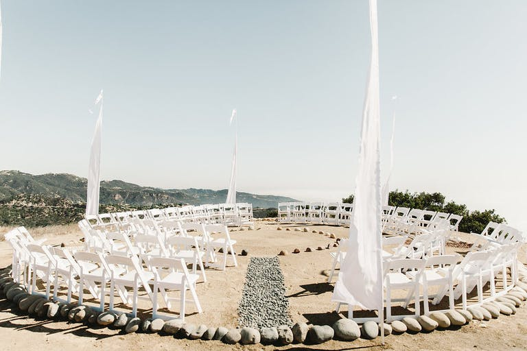 MOUNTAINTOP MALIBU WEDDING With Creative Wedding Aisle Decorations