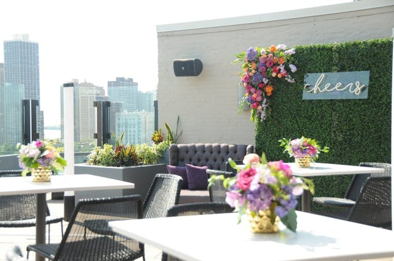 The J. Parker rooftop space atop The Lincoln Hotel in Chicago with views of Lake Michigan | PartySlate