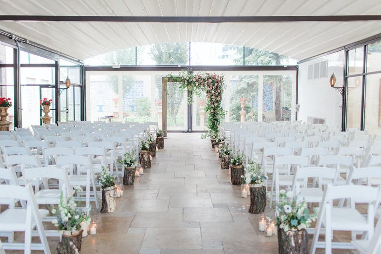 Rustic Galleria Marchetti Wedding With Creative Wedding Aisle Decorations