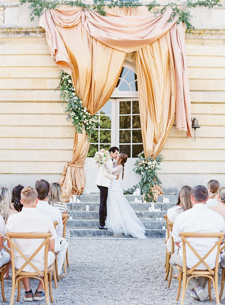 Elegant Outdoor Wedding at Chateau de Courtomer in Courtomer, France