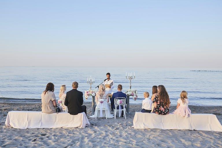 Luxury intimate wedding on the beach