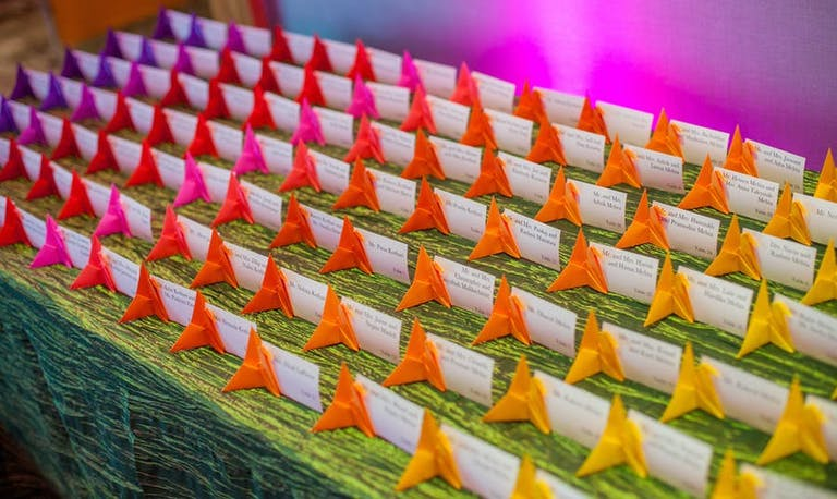 Rainbow aligned origami | PartySlate