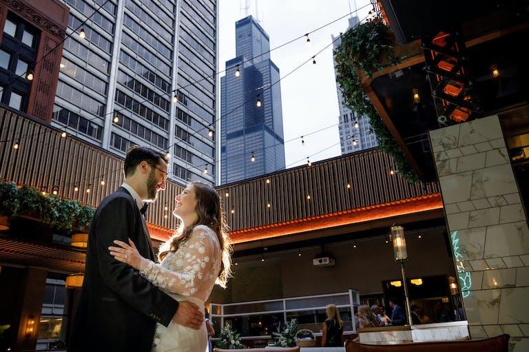 Romantic Intimate Micro Wedding | Gibsons Italia | Chicago, Illinois
