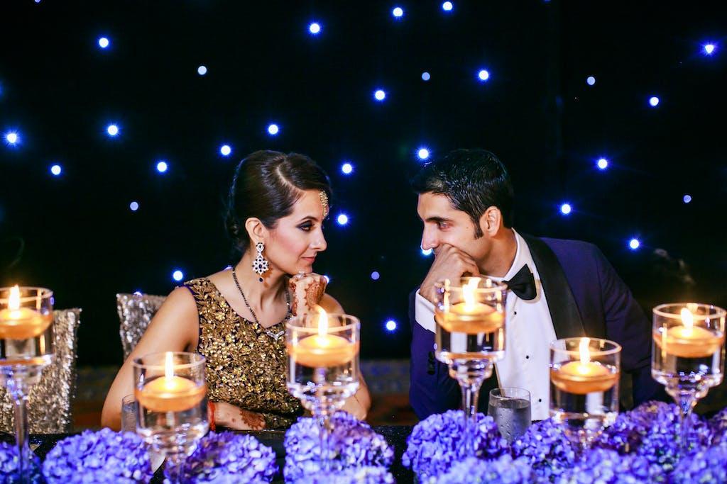 Ruby Red Ballroom Wedding in Tampa, FL With Hydrangea Wedding Centerpieces
