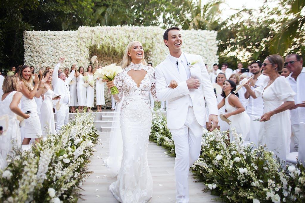 Simply Elegant White Beach Wedding at Rosewood Mayakoba in Playa Del Carmen, MX