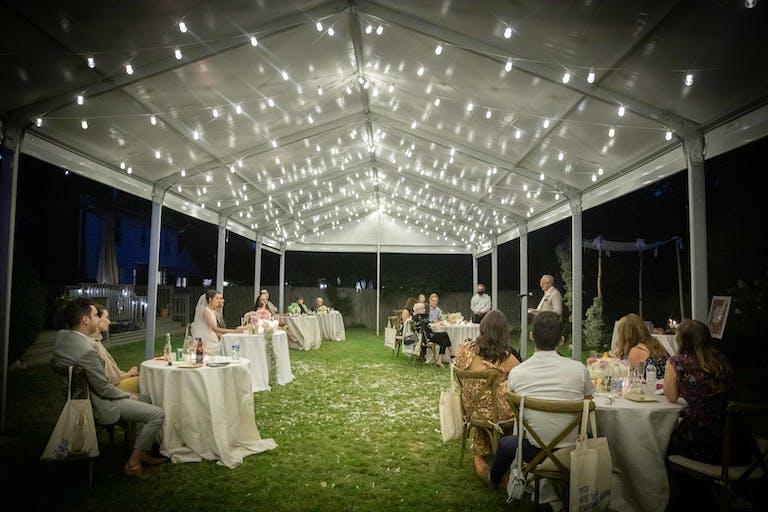 Social-Distanced Backyard Jewish Wedding in Chicago
