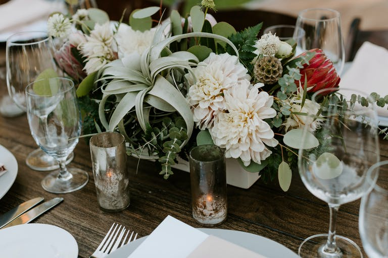 Desert-Inspired Wedding at Tre Posti in Napa, CA With Succulent Wedding Centerpieces