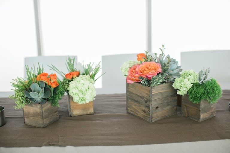 Natural & Vibrant Santa Monica Wedding With Succulent Wedding Centerpieces