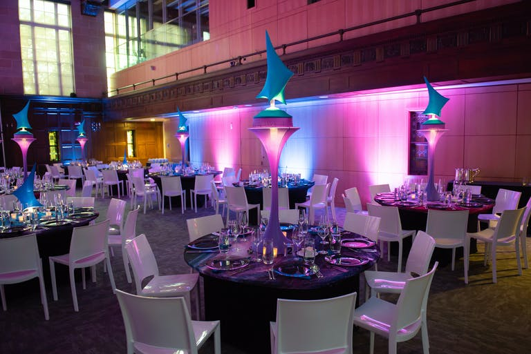 Out of This World, Space-Themed Party Bat Mitzvah With Futuristic Centerpieces | PartySlate