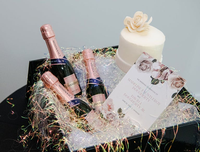 2021 trend virtual guests gift with wine and cake   PartySlate