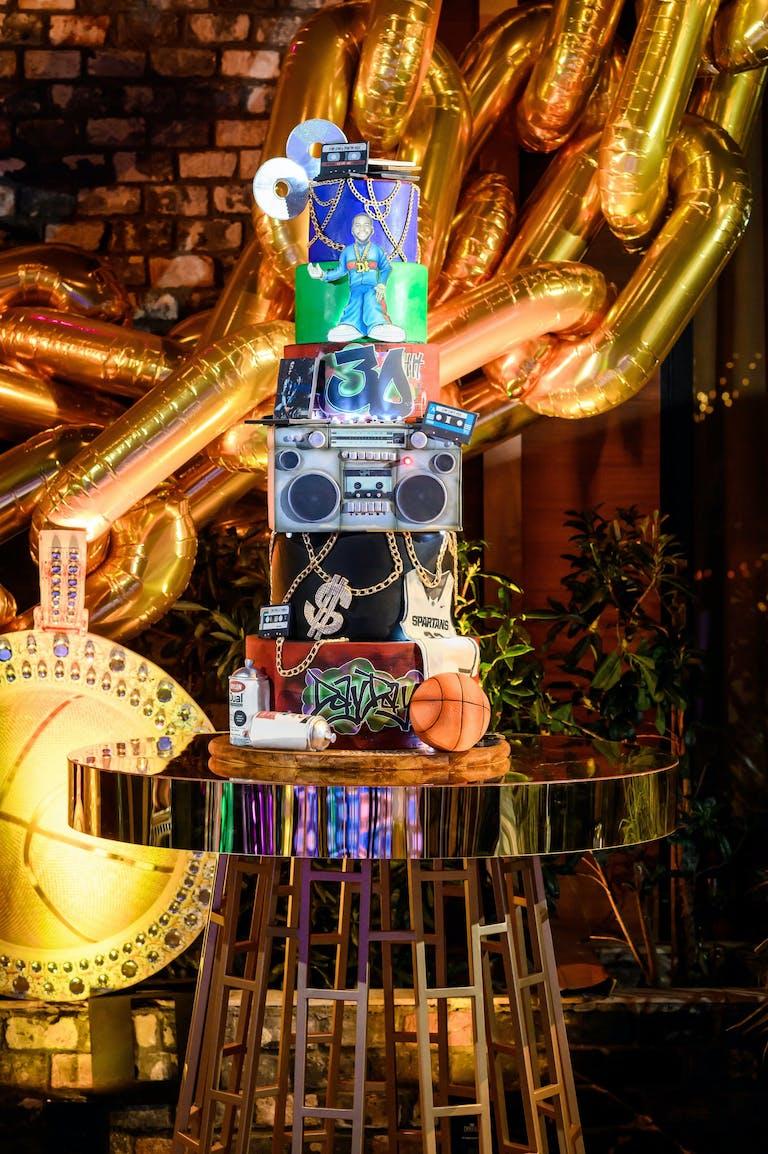 2021 trend 90's theme birthday cake   PartySlate