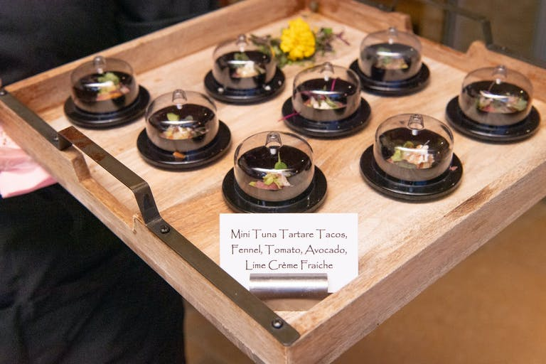 2021 trend appetizer tray with glass dome over mini servings   PartySlate