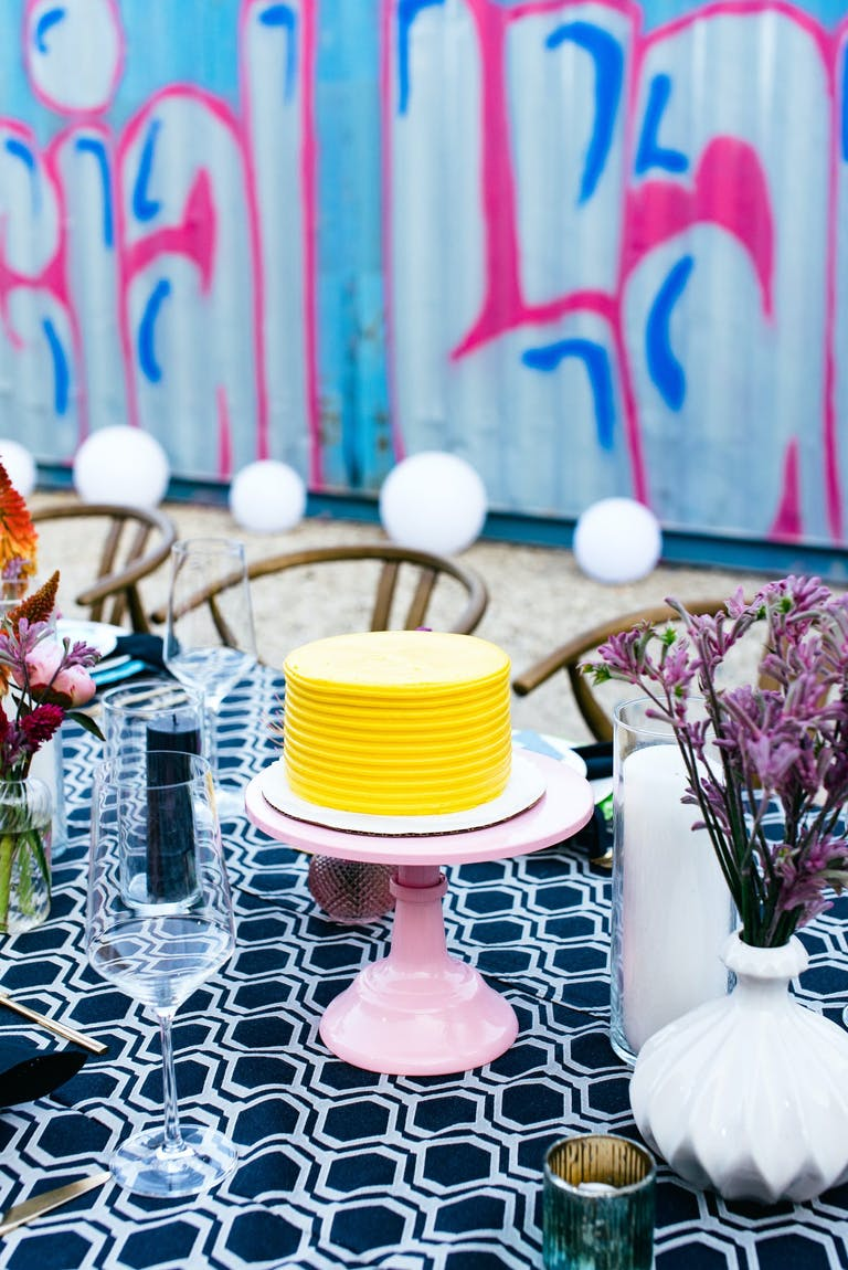 Mini yellow cake with no candles 2021 trend | PartySlate