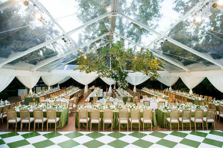Greenhouse wedding reception 2021 trend | PartySlate