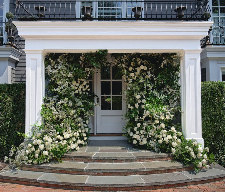 2021 trend grand entrance with greenery | PartySlate