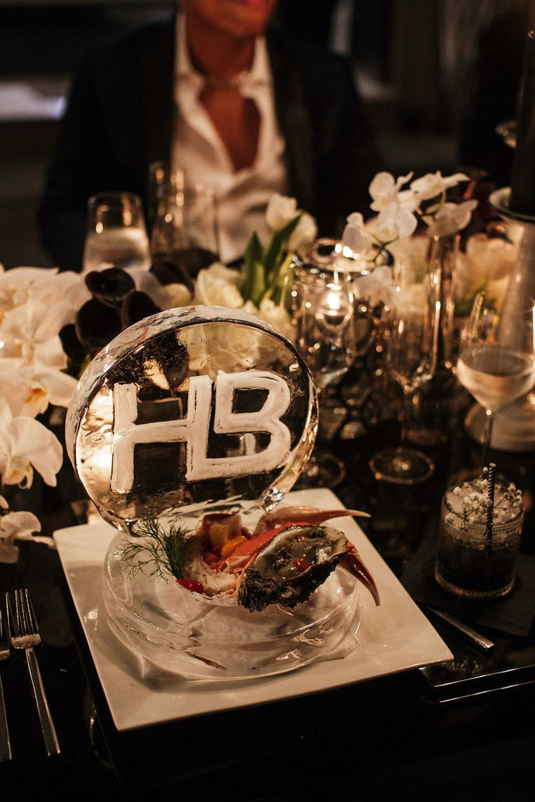 2021 trend engraved ice with seafood served on top   PartySlate