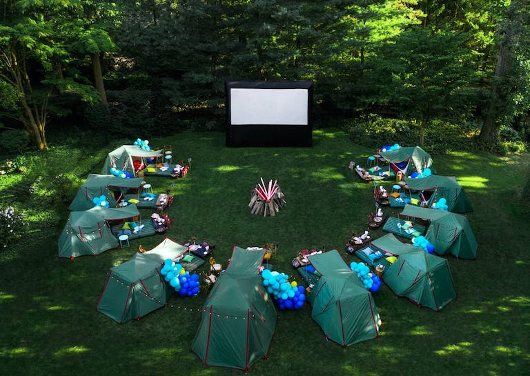 Social distanced luxurious camping birthday party 2021 trend | PartySlate