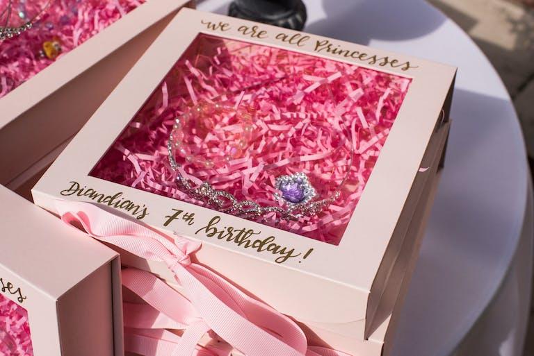 Princess 7th Birthday With Custom-Made Birthday Gift Box