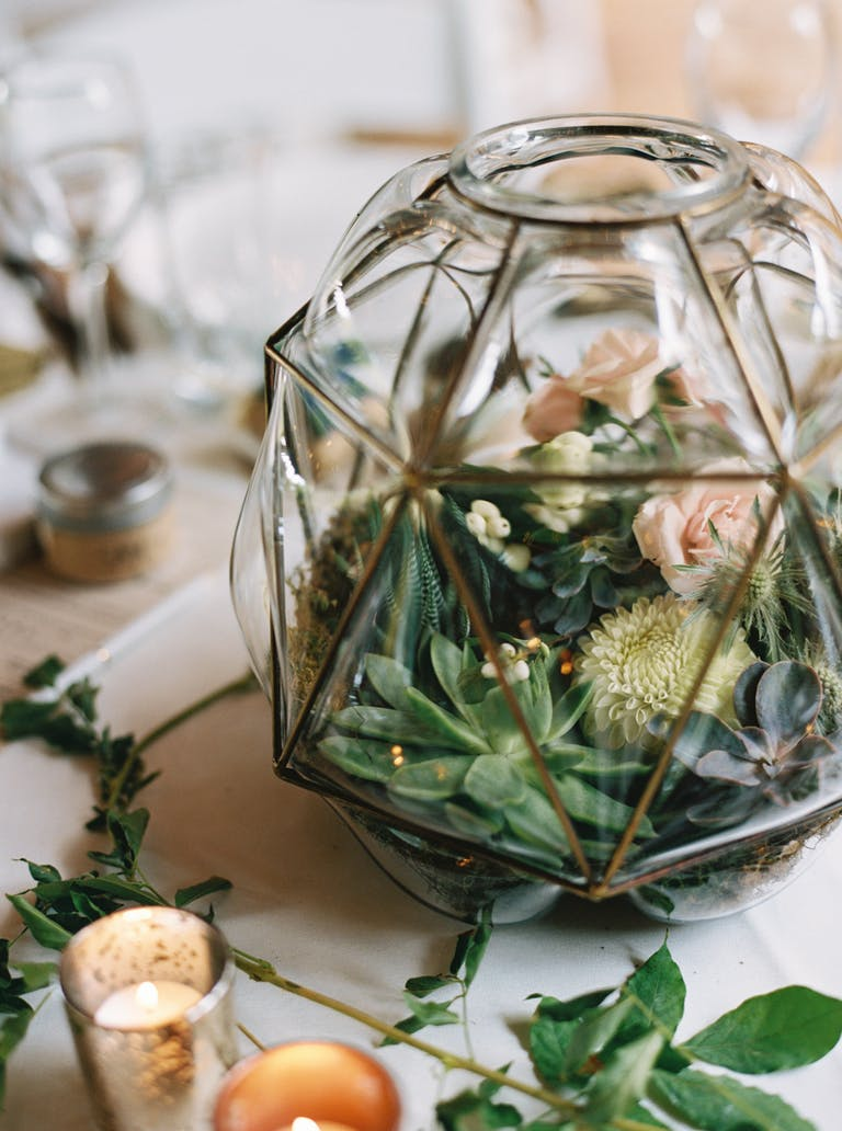 Ranch Style Texas Wedding at Avalon Legacy Ranch in Mckinney, TX With Succulent Wedding Centerpieces