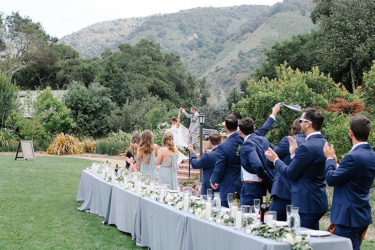 Rustic Spring Wedding at the Gardener Ranch in Carmel Valley, CA With a blue Spring Wedding Color Palette
