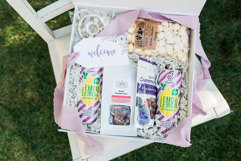 Vintage Dinner Party With Welcome Gift Boxes