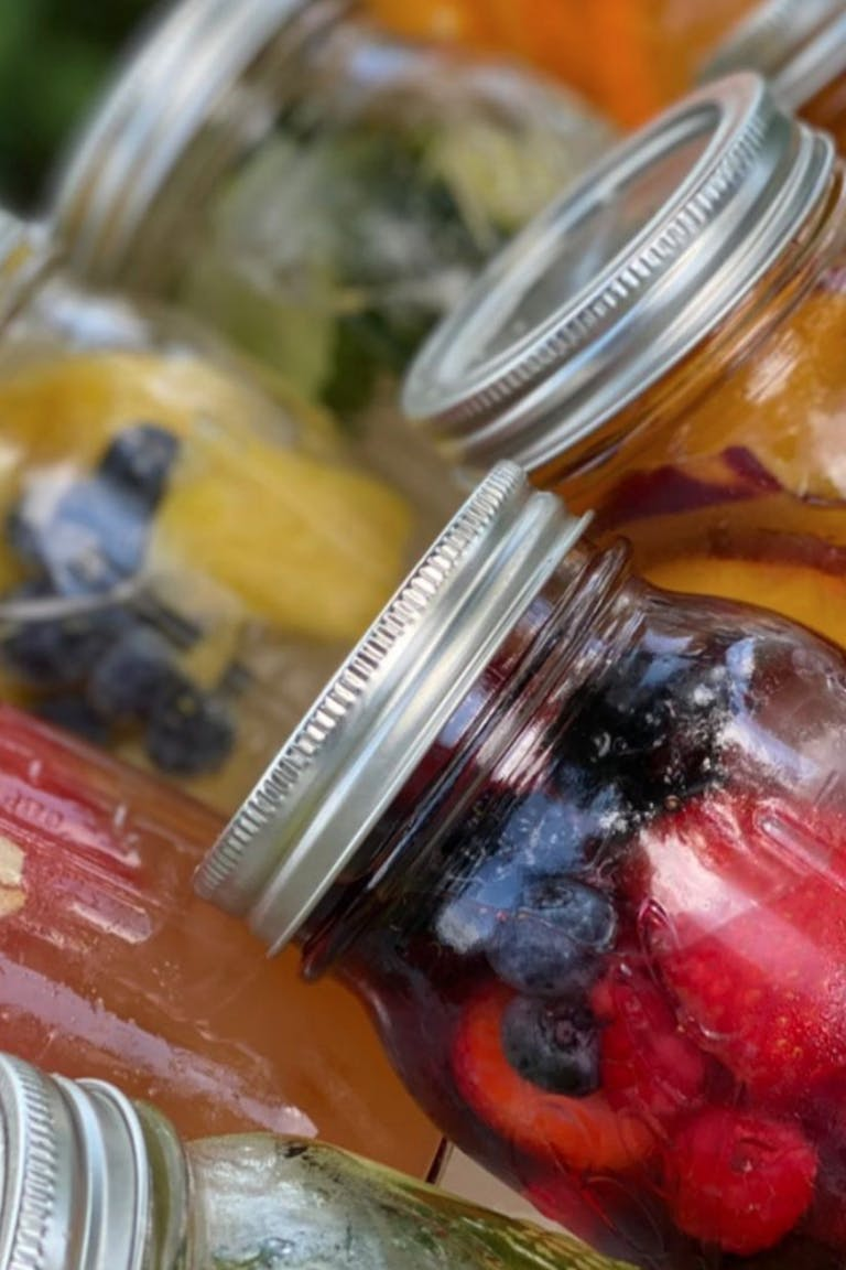 Lidded Fruit Cocktails by Elegant Affairs Caterers | PartySlate
