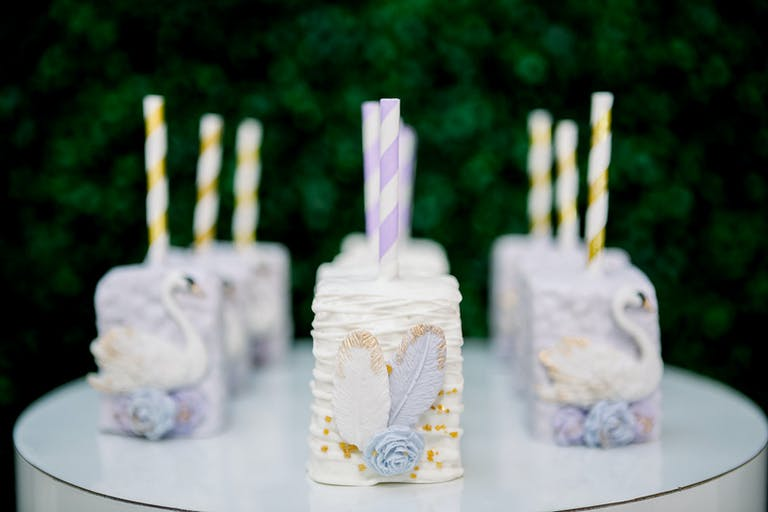 Cake Pops at a Beautiful Swan-Theme First Birthday Celebration at 1718 Studio in Birmingham, Alabama | PartySlate