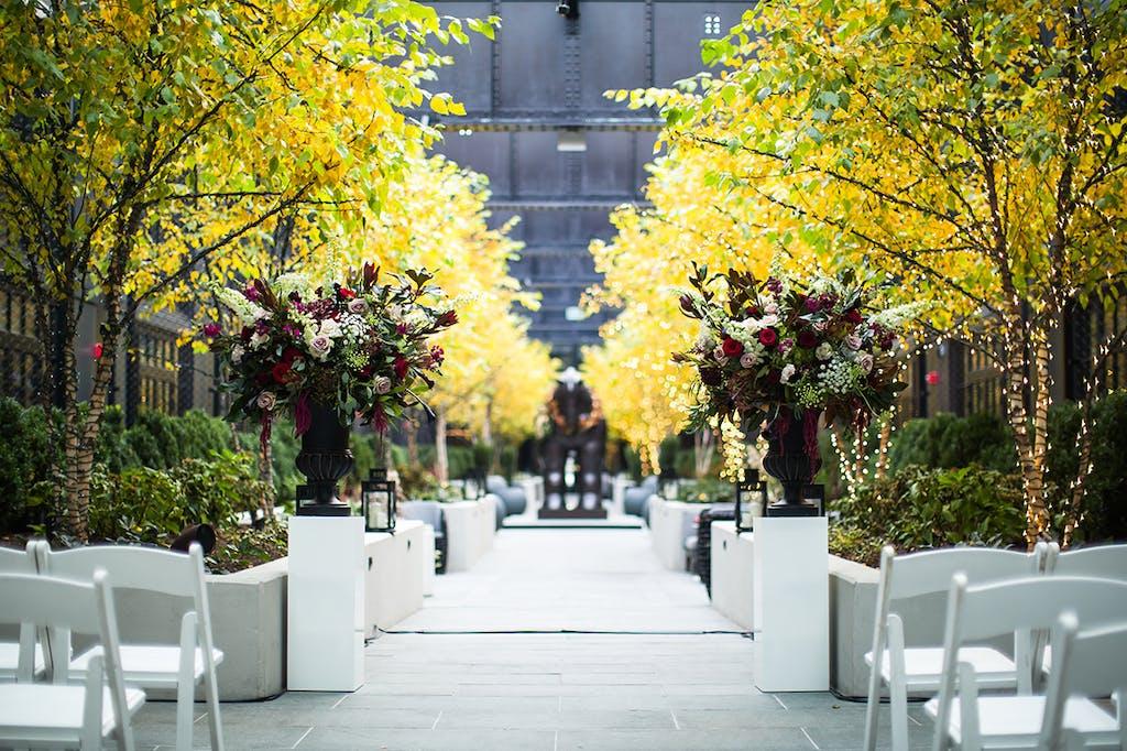 Glistening Gold Floral Wedding