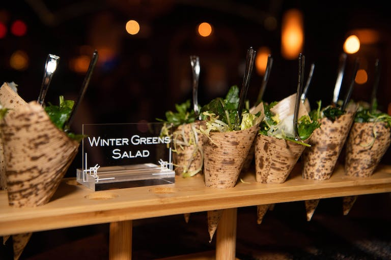 Houston Texans Holiday Party at The Astorian in Houston, TX With Salad in Paper Cones | PartySlate