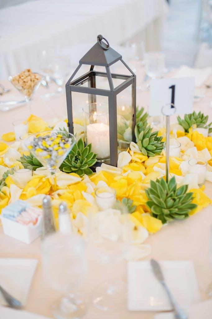 Modern White Wedding With a Splash of Citrus