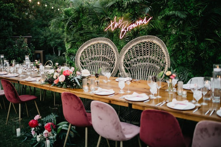 Top wedding of 2020 with a tropical theme and boho style | PartySlate