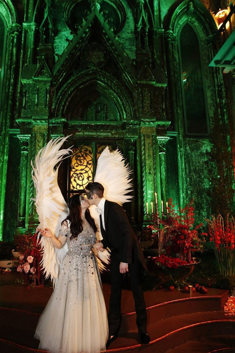 Creative good and evil themed wedding | PartySlate
