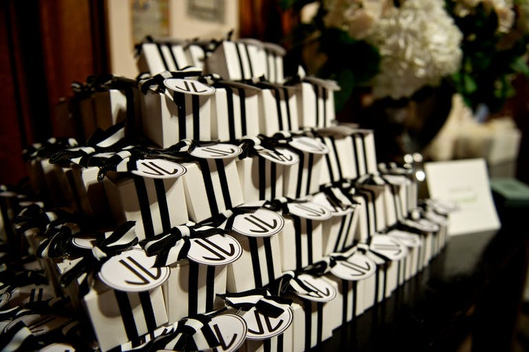 Wedding Party Favors in Black and White Packaging | PartySlate