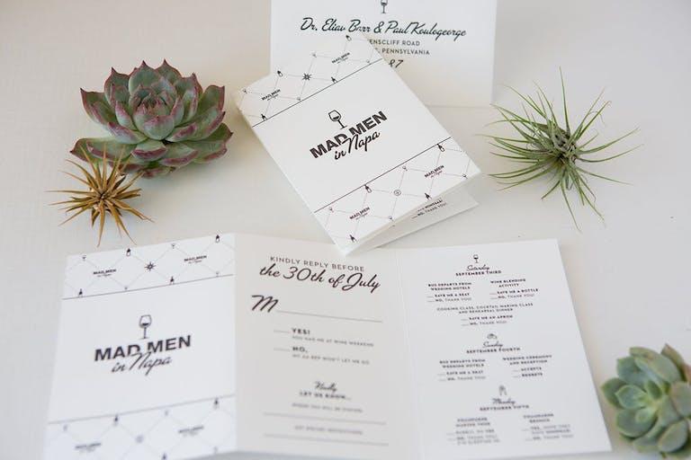 Mad Men-Themed Wedding Invitations | PartySlate