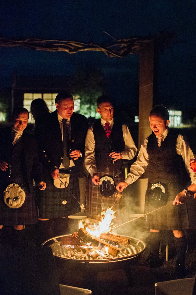 Scottish-Style Wedding in Washington DC With S'mores and Campfire | PartySlate