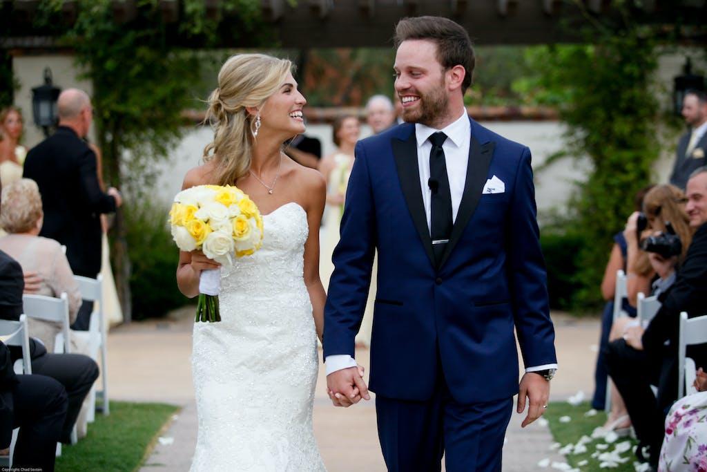 Simplistic White & Yellow Wedding at Omni Scottsdale Resort & Spa at Montelucia in