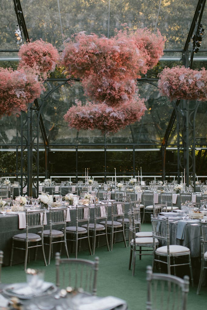 """Tented Wedding with """"Pink Fluffy Clouds"""" in Dublin, Ireland"""