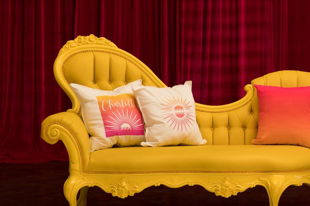 Yellow & Pink Summer-Themed Bat Mitzvah