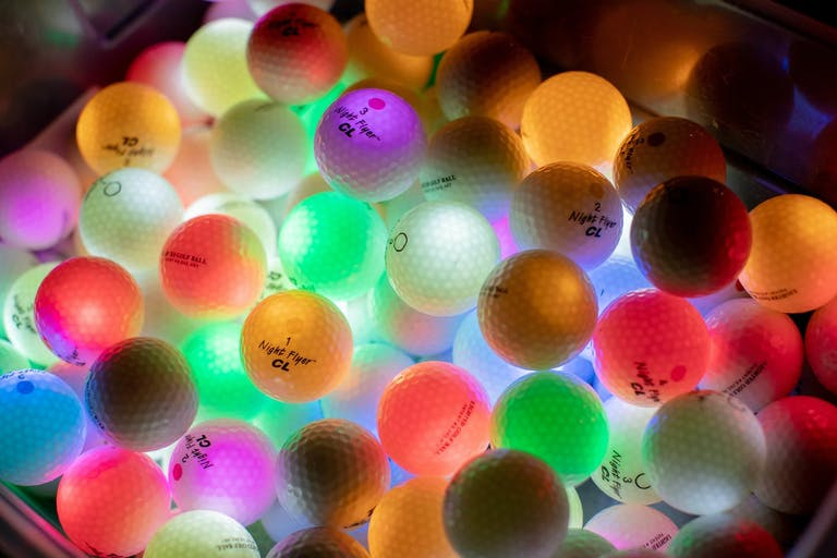 Glow-in-the-Dark Golf Balls from Glow-in-the-Dark Golf Party   PartySlate
