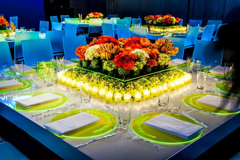 Neon Party With Glow-in-the-Dark Tablescape   PartySlate