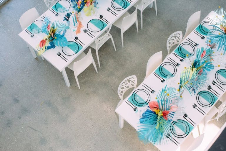 Bright and colorful outdoor/indoor Micro Bar Mitzvah | PartySlate