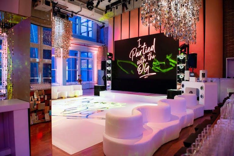 Dazzling dance floor Bat Mitzvah in New York   PartySlate