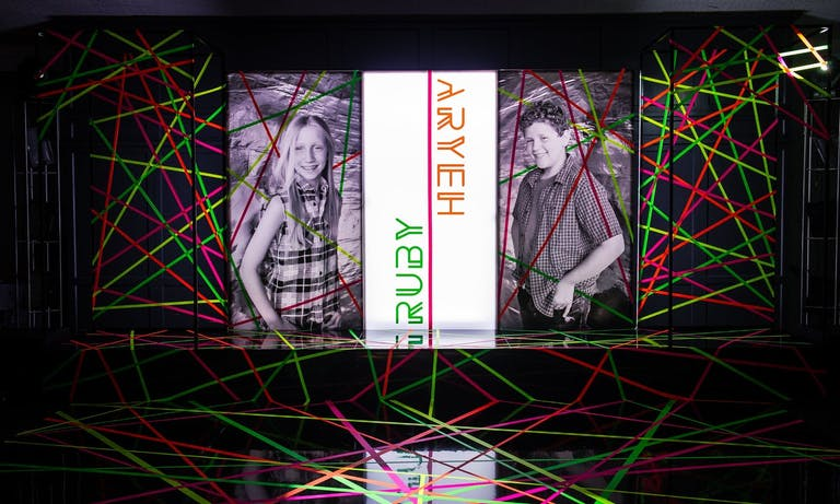 Neon Mitzvah Party With Laser Glow Dance Floor   PartySlate