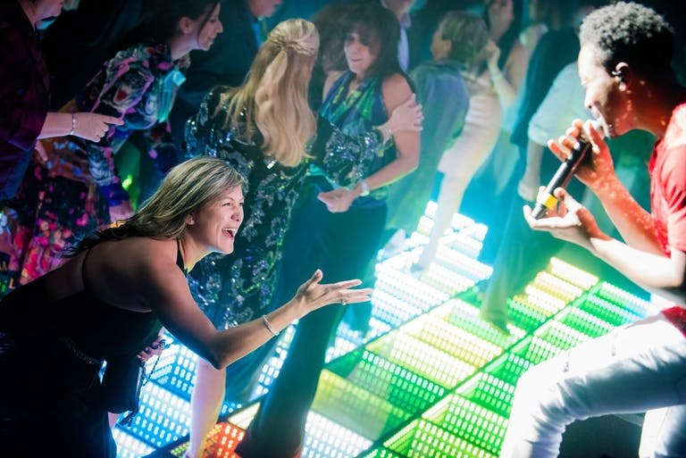 Band Sings to Woman on LED Dance Floor   PartySlate