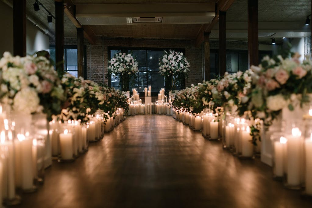 STUNNING CANDLELIT WEDDING AT THE CHICORY IN NEW ORLEANS, LOUISIANA | PARTYSLATE