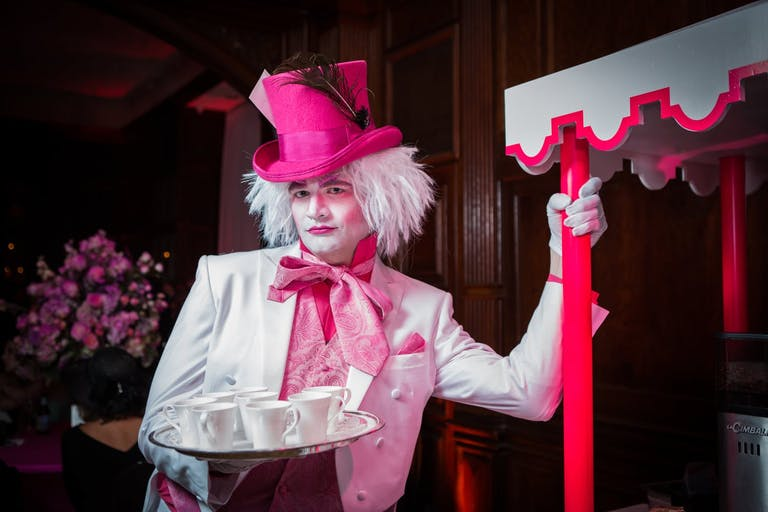 Disney-Themed Wedding With Mad Hatter Serving Tea   PartySlate